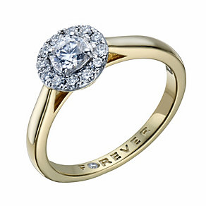 The Forever Diamond 18ct Gold 1/2 Carat Total Diamond Ring - Product number 1670476
