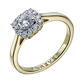 The Forever Diamond 18ct Gold 1/2 Carat Total Diamond Ring - Product number 1670751