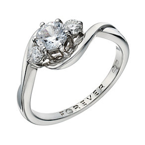 The Forever Diamond Palladium 2/3 Carat Total Diamond Ring - Product number 1671308