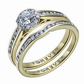 The Forever Diamond 18ct Gold 2/3 Carat Diamond Bridal Set - Product number 1671588
