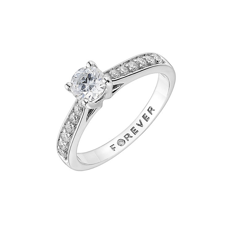 Platinum 3/4 carat total Forever Diamond ring - Product number 1671863