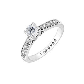 The Forever Diamond Platinum 3/4 Carat Total Diamond Ring - Product number 1671863