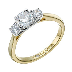 The Forever Diamond 18ct Gold 1 Carat Total Diamond Ring - Product number 1672169