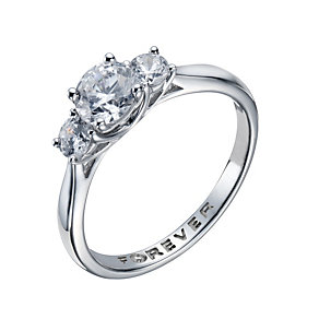 The Forever Diamond 18ct White Gold 1 Carat Diamond Ring - Product number 1672312