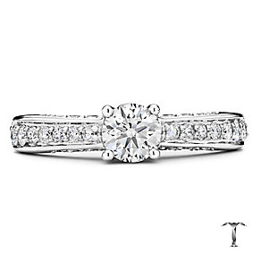Tolkowsky 18ct white gold 1.00ct I-I1 diamond ring - Product number 1673920