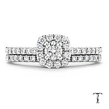 Tolkowsky 18ct white gold 0.50ct I-I1 diamond bridal set - Product number 1674196