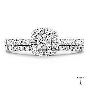 Tolkowsky 18ct white gold 0.50ct I-I1 diamond bridal set - Product number 1674196