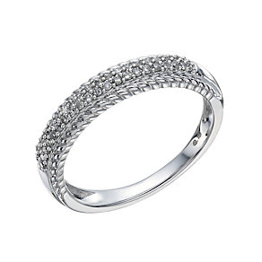 9ct White Gold 0.15 Carat Diamond Pave Set Eternity Ring - Product number 1674323
