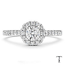 Tolkowsky 18ct white gold 0.77ct I-I1 diamond halo ring - Product number 1674455
