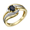 9ct Gold Sapphire & Diamond Eternity Ring - Product number 1674722