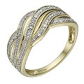 9ct Gold 10 Point Diamond Pave Set Eternity Ring - Product number 1675044