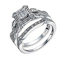 9ct White Gold 2/5 Carat Diamond Princessa Bridal Ring Set - Product number 1678035
