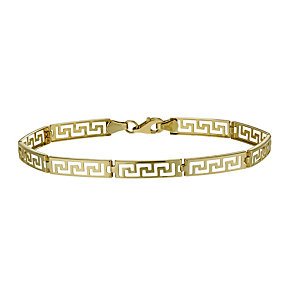 9ct gold Greek key bracelet - Product number 1678167
