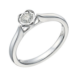 9ct White Gold 1/5 Carat Diamond Illusion Solitaire Ring - Product number 1678175