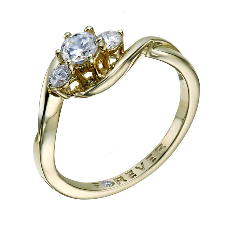 The Forever Diamond 9ct Gold 1/2 Carat Total Diamond Ring - Product number 1679406
