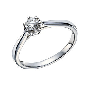 9ct White Gold 1/4 Carat Diamond Illusion Solitaire Ring - Product number 1680110