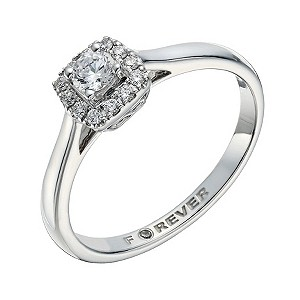 18ct white gold 1 4 carat forever ring h samuel