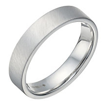 Sterling Silver Flat Court & Matt 5mm Ring - Product number 1689509