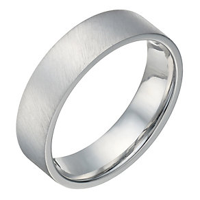 Sterling Silver Flat Court & Matt 6mm Ring - Product number 1689819
