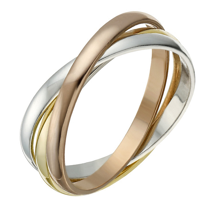 9ct gold 2mm 3 colour russian wedding ring hsamuel With russian style wedding ring