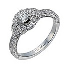 Neil Lane 14ct white gold 56 point diamond halo ring - Product number 1691031