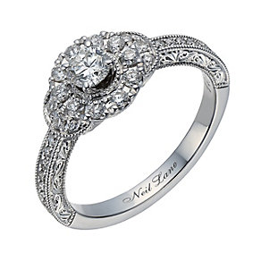 Neil Lane 14ct white gold 0.56ct diamond halo ring - Product number 1691031