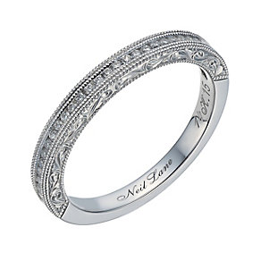Neil Lane 14ct white gold 0.15ct diamond milgrain ring - Product number 1691619