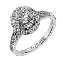 Neil Lane 14ct white gold 0.80ct oval diamond halo ring - Product number 1691791