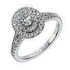 Neil Lane 14ct white gold 80 point oval diamond halo ring - Product number 1691791