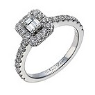 Neil Lane 14ct white gold 1 carat emerald cut diamond ring - Product number 1692097
