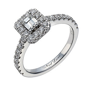 Neil Lane 14ct white gold 1.00ct emerald cut diamond ring - Product number 1692097