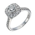 Neil Lane 14ct white gold 1.51 carat diamond halo ring - Product number 1692232