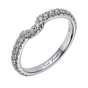 Neil Lane 14ct white gold 0.42ct diamond set shaped ring - Product number 1692496