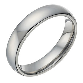Titanium Men's Polished 5mm Ring - Product number 1692879