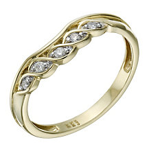 9ct Gold Diamond Twisted & Shaped Ring - Product number 1694391