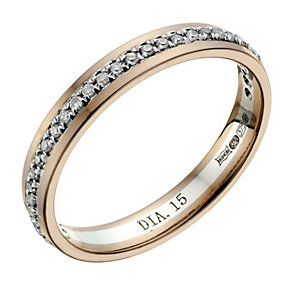 9ct White Gold 1/4 Carat Round & Baguette Cut Diamond Ring - Product number 1695401
