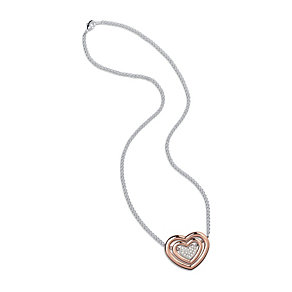 Folli Follie rose gold-plated heart pendant - Product number 1695703