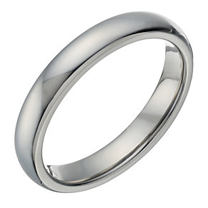 Titanium Men's Polished 4mm Ring - Product number 1696173
