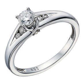 9ct White Gold 2/5 Carat Total Diamond Solitaire Ring - Product number 1696734