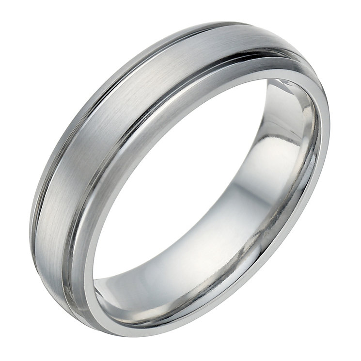 Cobalt Groove Detail 6mm Ring - Product number 1696874