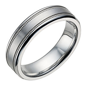 Cobalt Men's Milgrain Detail 6mm Ring - Product number 1697188