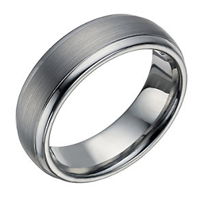 Tungsten Matt & Polished 7mm Ring - Product number 1697498