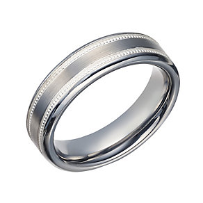 Tungsten 6mm Milgrain Band - Product number 1698664