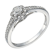 9ct White Gold 1/4 Carat Total Diamond Solitaire Ring - Product number 1699431