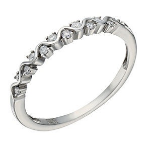Palladium 950 10 Point Diamond Ring - Product number 1699563