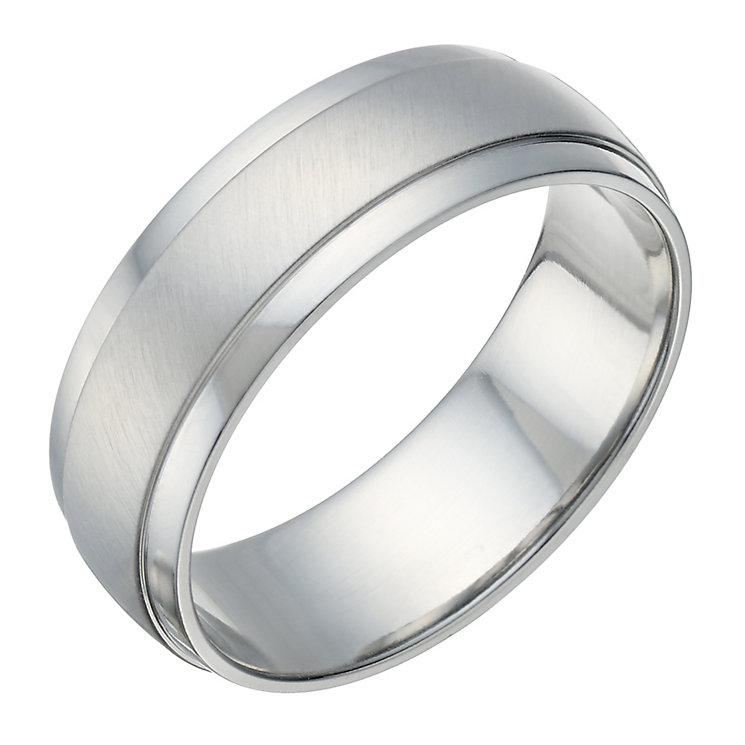 Cobalt Matt & Polished 7mm Ring - Product number 1700758