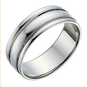 Sterling Silver Milgrain Detail Ring - Product number 1705784