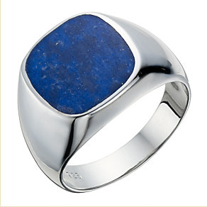 Sterling Silver Lapis Lazuli Signet Ring - Product number 1706047