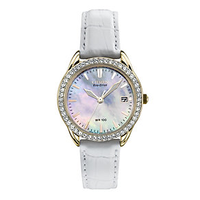 Citizen Eco-Drive Ladies' White Leather Strap Watch - Product number 1709607