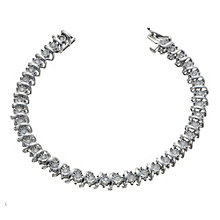 9ct white gold 1.5 carat diamond illusion set bracelet - Product number 1711687